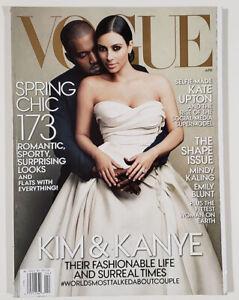 KIM KARDASHIAN Wedding Dress KANYE WEST collectible Vogue magazine April 2014