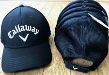 2ba3ea1f3d3 NWT Callaway Golf Mesh Hat Baseball Cap Adjustable Strap Black n White  Unisex