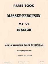 Massey Ferguson Mf 97 Mf97 Tractor Parts Book Manual