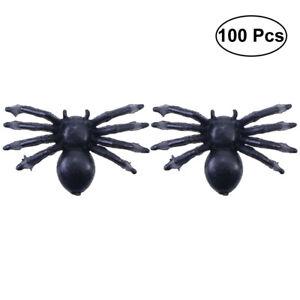100pcs Fake Spider Simulation Scary Gag Prank Joke Toy Realistic Black Spider