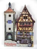 Rothenburg o.d. Tauber Plönlein Holz Souvenir Magnet,Germany Deutschland,Neu
