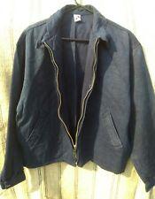 Hemp Zipper Jacket. Heavy Hemp Denim Twill in Natural Indigo. M/L Slash Pockets.