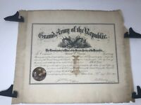CIVIL WAR GRAND ARMY OF THE REPUBLIC CERTIFICATE WITH ORIGINAL MAILING SLEEVE
