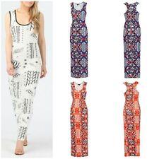 Round Neck Casual Geometric Sleeveless Dresses for Women