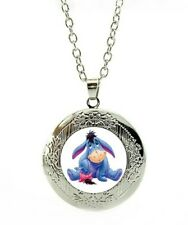 Disney Eeyore Necklace marbel locket winne the pooh with gift poch birthday LC4