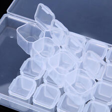 PLASTIC STORAGE BOX BIN JEWELRY STORAGE BOX EARRING CASE CONTAINER CRAFT BEAD