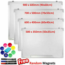 More details for magnetic whiteboard small large white board dry wipe notice office school home