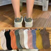 Women Kawaii Casual Cotton Sock Embroidered Expression Socks Ankle Funny Socks
