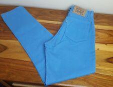 Vintage Levis 441 Jeans Weiß Tab hoch tailliert Overdyed Slim Blau W27 L30 selten