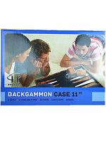 "C&H 11"" Classic Brown & White Backgammon Set"