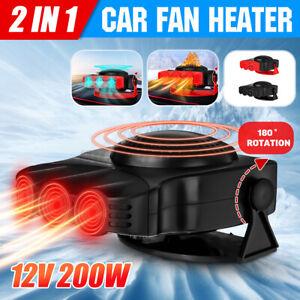 Car Heater 12V Dash Mount & Hand Portable Hot & Cold Fan Defroster Demister 200W