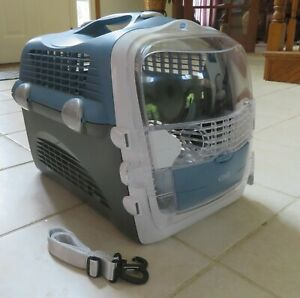 Catit Cabrio Cat Small Dog Carrier Blue Gray  NEW (Other)
