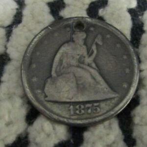 1875 $.20 TWENTY CENT PIECE U.S. SILVER TYPE COIN RARE L@@K