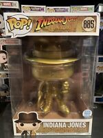 "Funko Pop 10"" Gold Indiana Jones #885 Funko Shop Exclusive"