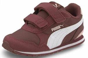 Puma ST Runner v2 Infant Toddler Kids Trainer Shoe Burgundy