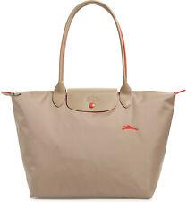 Longchamp Le Pliage Club Large Nylon Tote Shoulder Bag ~NEW~ Mink