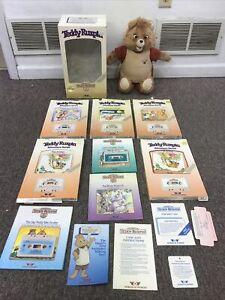 Teddy Ruxpin – WOW – 1985 – Working w/ Original Box Boxes Books Cassettes NICE!