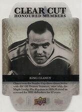 2012-2013 Upper Deck Clear Cut Honoured Member HOF-44 King Clancy