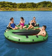 NEW - Ozark Trail 9' Inflatable Island w/drinks holder. Holds 4. Floating.