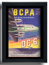 More details for bcpa leads the way across the pacific douglas dc6 framed repro poster 1949