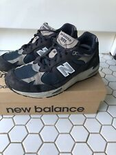 New Balance 991 Bleu Baskets Chaussures Baskets M991FA Made in England UK 11