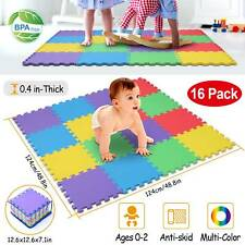 16pcs Kids Foam Play Mat Baby Crawling Activity Gym Crawl Infant Floor Carpets