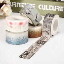 Rouleau 10 Mètres Ruban Adhésif en papier DIY Décor Autocollant Galon Washi Tape
