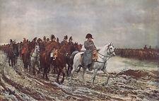 "J. LOUIS E. MEISSONIER 1914 Antique Book Print ""1814"" Napoleon From Oil Painting"