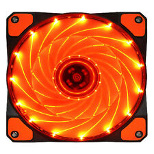 15 LED Light Quite 120mm DC 12V 4Pin PC Computer Case Cooling Cool Fan Mod Or