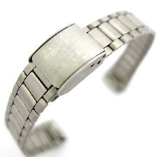 12mm SATIN FINISH STAINLESS STEEL WATCH BRACELET ADJUSTABLE CLASP. (ref 1472)