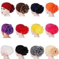 Women Hair Loss Head Scarf Turban Cap Muslim Cancer Hijab Large Flower Chemo Hat