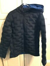 Mountain Hardwear Mens Stretch down DS Hooded Down Jacket Blue M New With Tags