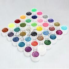 36 Pcs Glitter Mix Color UV Builder Gel Polish Acrylic Set for Nail Art Tips DIY
