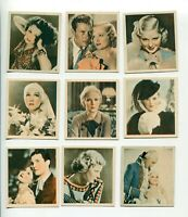 1934 GODFREY PHILLIPS CIGARETTES SHOTS FROM THE FILMS  9 DIFFERENT CARD