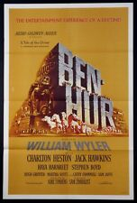 BEN HUR BEN-HUR CHARLTON HESTON ORIGINAL 1959 ROADSHOW 1-SHEET NEAR MINT