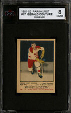 1951-52 PARKHURST #17 GERALD COUTURE ROOKIE CARD MONTREAL CANADIENS KSA 8 NM-MT