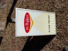 Vtg Dr Pepper Vending Machine Light Sign Metal 28 x 16 Friendly Upper Soda Pop