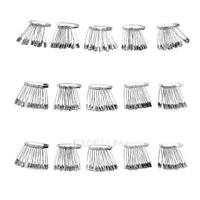 60pcs Silver Tone Metal Stainless Steel Brooch Badge Jewelry Safety Pins E0Xc