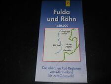 Fahrradkarte Tourenkarte Radwanderungen: Fulda und Rhön