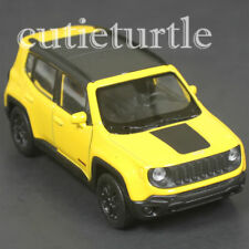 """4.5"""" Welly 2017 Jeep Renegade Trailhawk  Diecast Toy Car 43736D Yellow"""