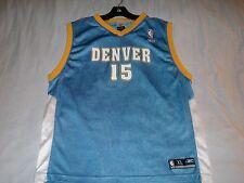 CARMELO ANTHONY 15 Denver Nuggets Blue NBA Reebok Basketball Jersey Boys XL used