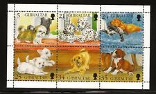 GIBRALTAR MINITURE SHEET: Puppies 1996, Mint