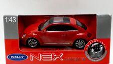 Bug Welly Nex Models Die cast Metal Volkswagen Beetle 1:43 New in box  Red