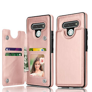 For LG Stylo 6 Wallet Case Leather Magnetic Card Holder Stand Cover w/ Kickstand