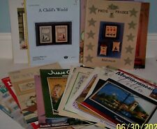 Cross Stitch Patterns & Aida See Listing for Complete Pattern List Lot of 26