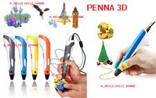 PENNA 3D PER STAMPA STEREOSCOPICA CON SET DI FILAMENTI INCLUSI V 2.0 3D PEN