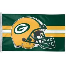 "Green Bay Packers ~ Nfl Large 3x5 Foot Deluxe Flagpole Flag ~ ""Helmet"" ~ New!"