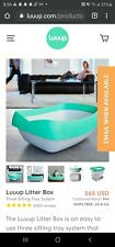 New listing Luuup Litter Box 3 Sifting Tray Cat Litter Box Easy to Clean Non Stick Open Box