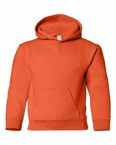 GILDAN YOUTH 18500B Size S-XL Heavy Blend Hoody Hoodie Fleece Hooded Sweatshirt