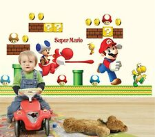 Super Mario Bros Run Huge Wall Stickers Vinyl Removable Decal Mural Home Decor